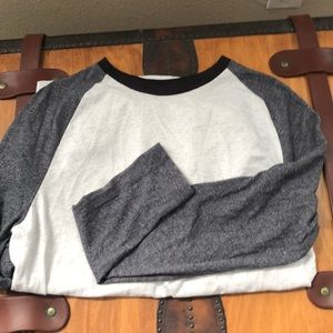 Long sleeve 3-tone t-shirt